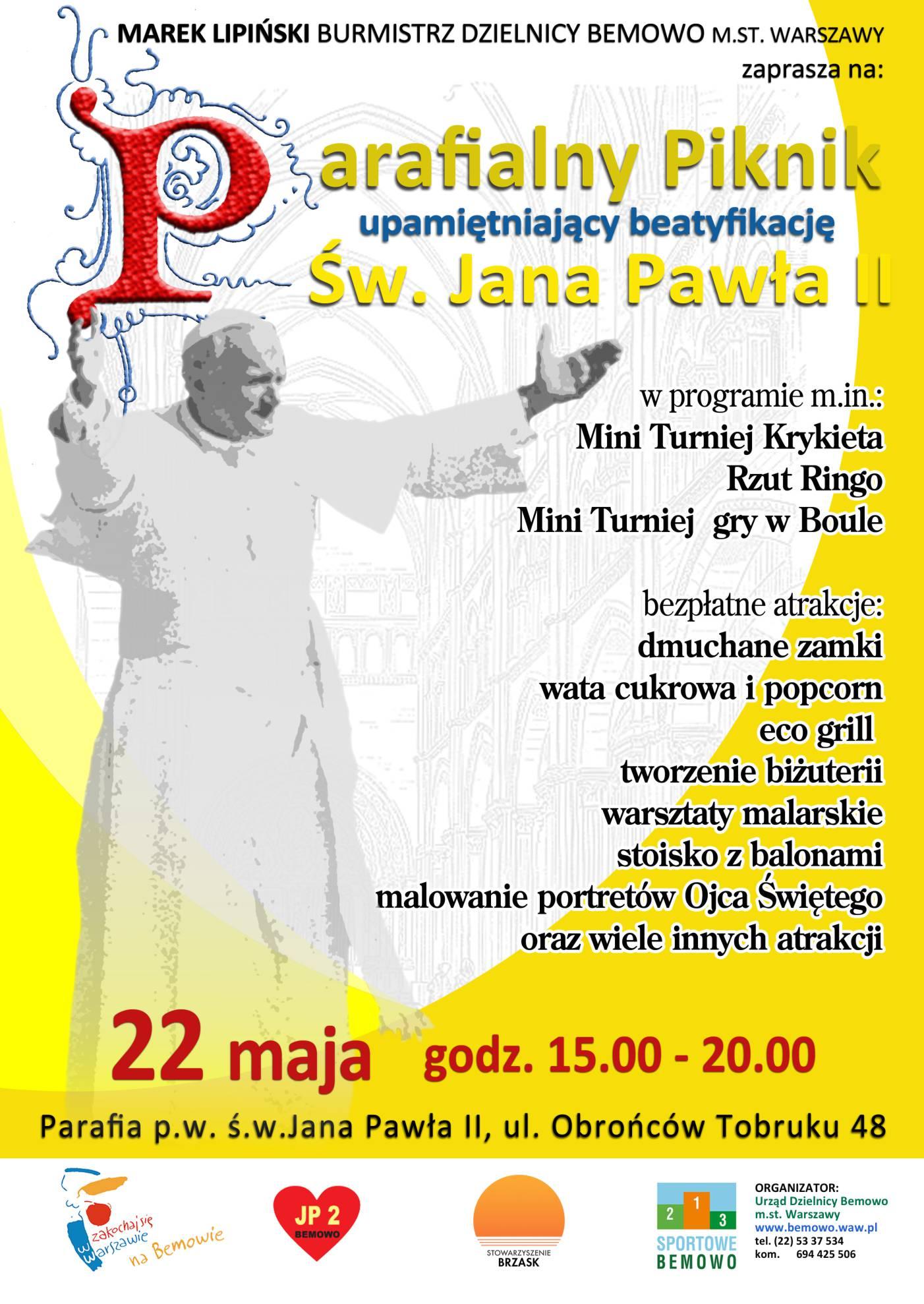 impreza integracyjna piknik papieski
